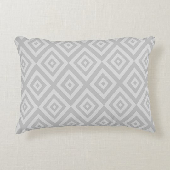 Abstract geometric pattern - grey. decorative cushion