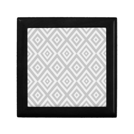 Abstract geometric pattern - grey. gift box