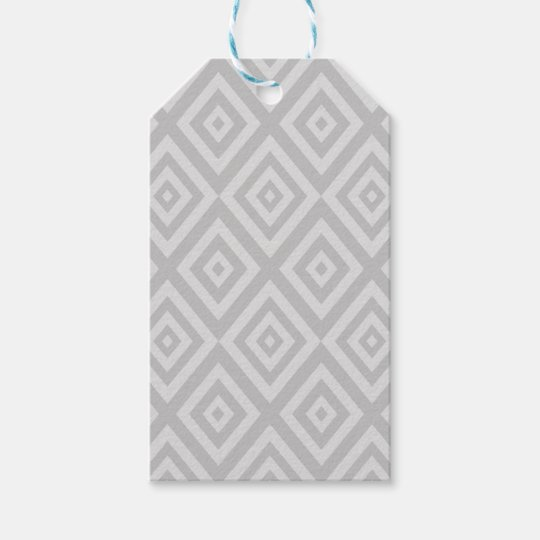 Abstract geometric pattern - grey. gift tags