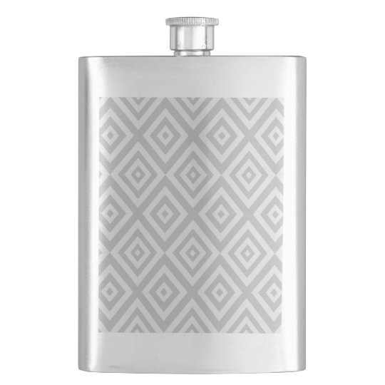 Abstract geometric pattern - grey. hip flask