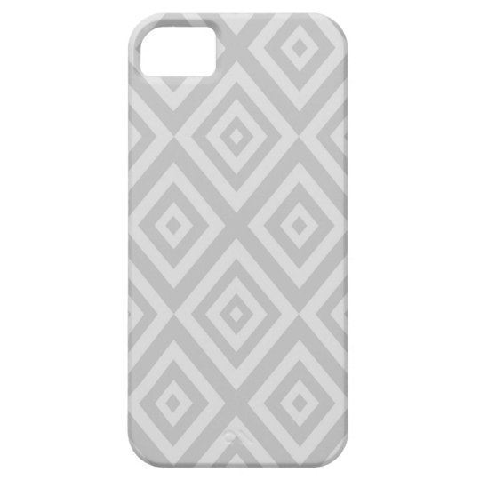Abstract geometric pattern - grey. iPhone 5 cover