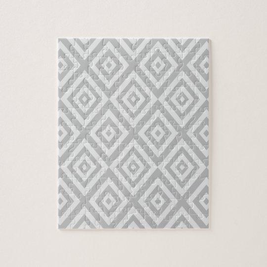 Abstract geometric pattern - grey. jigsaw puzzle