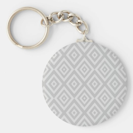 Abstract geometric pattern - grey. key ring