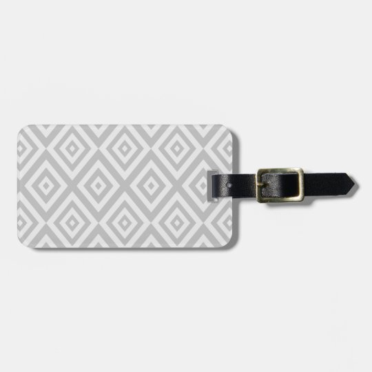 Abstract geometric pattern - grey. luggage tag
