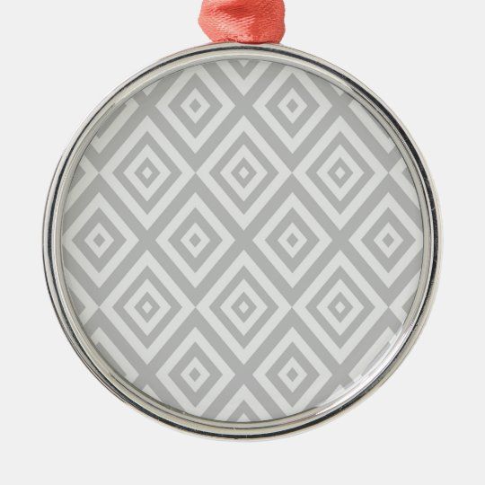 Abstract geometric pattern - grey. metal ornament