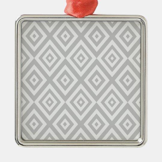 Abstract geometric pattern - grey. metal ornament
