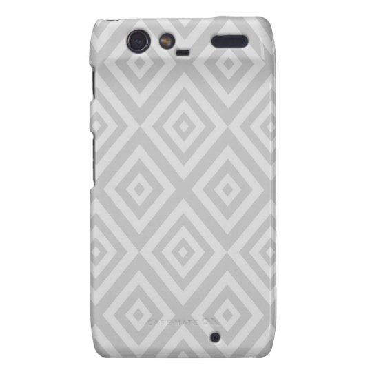 Abstract geometric pattern - grey. motorola droid RAZR case