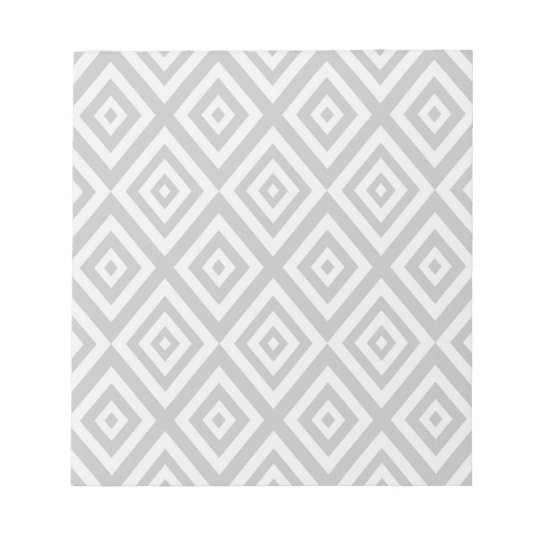 Abstract geometric pattern - grey. notepad