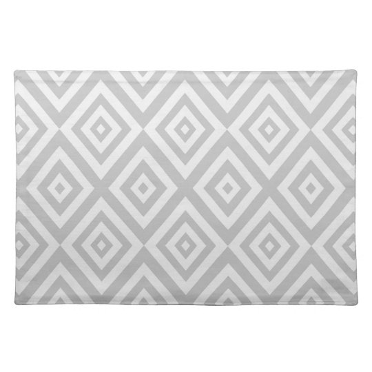 Abstract geometric pattern - grey. placemat