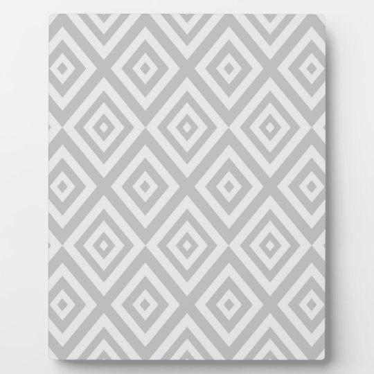 Abstract geometric pattern - grey. plaque