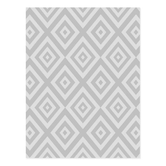 Abstract geometric pattern - grey. postcard