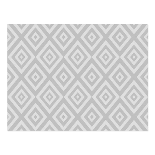 Abstract geometric pattern - grey. postcard