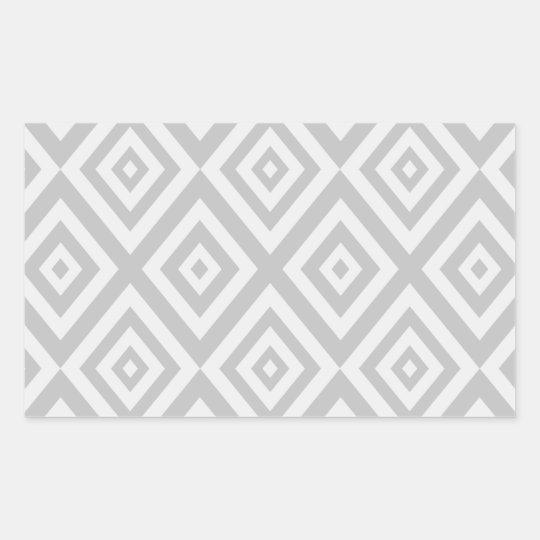 Abstract geometric pattern - grey. rectangular sticker