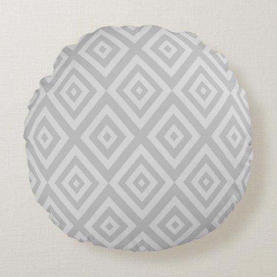 Abstract geometric pattern - grey. round cushion