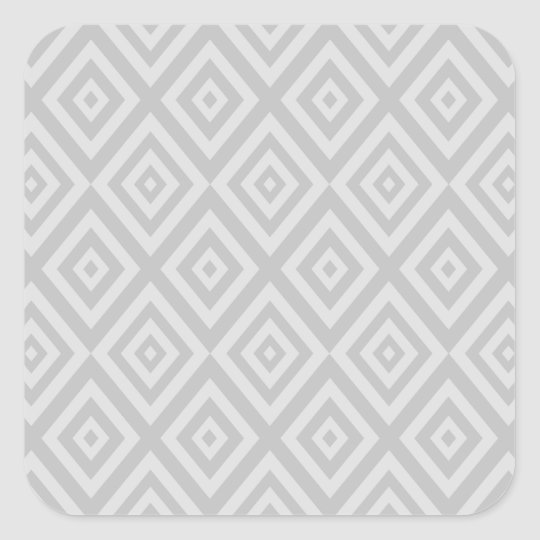 Abstract geometric pattern - grey. square sticker