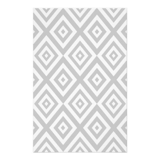 Abstract geometric pattern - grey. stationery