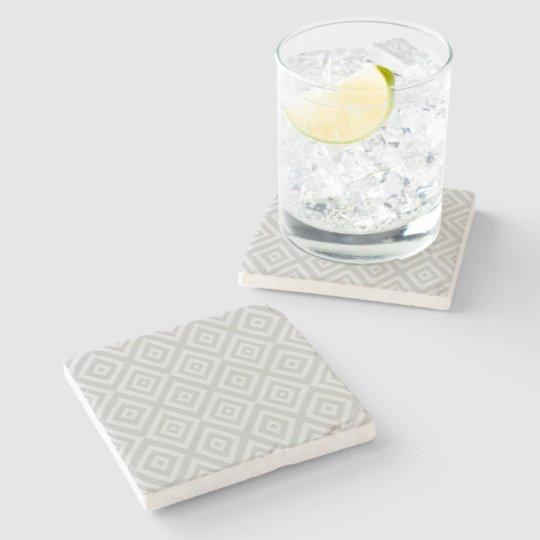 Abstract geometric pattern - grey. stone coaster