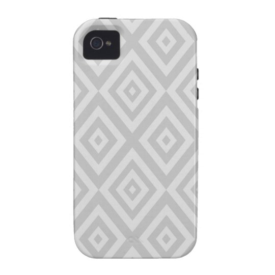 Abstract geometric pattern - grey. vibe iPhone 4 cases