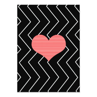 Abstract geometric pattern - heart - zigzag card
