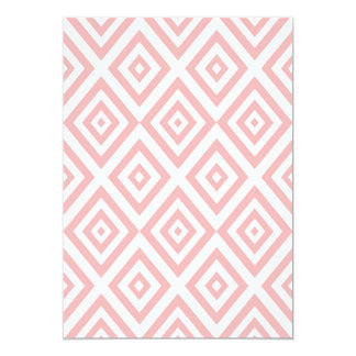 Abstract geometric pattern - pink and white. card