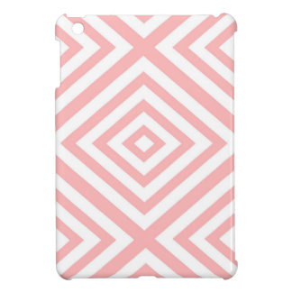 Abstract geometric pattern - pink and white. cover for the iPad mini