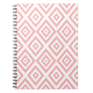 Abstract geometric pattern - pink and white. notebook