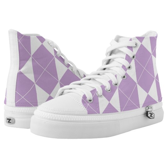 Abstract geometric pattern - purple. high tops