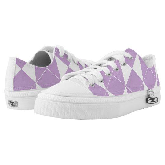 Abstract geometric pattern - purple. low tops