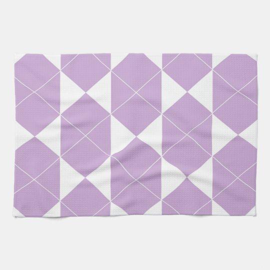 Abstract geometric pattern - purple. tea towel