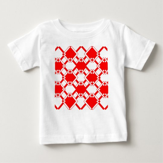 Abstract geometric pattern - red and white. baby T-Shirt