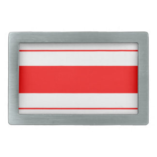 Abstract geometric pattern - red and white. belt buckle