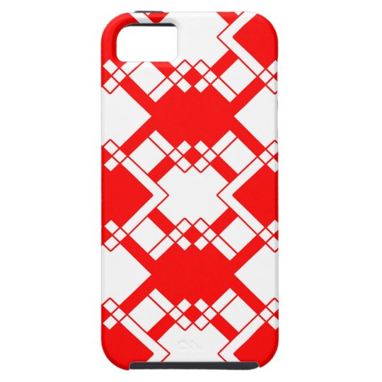 Abstract geometric pattern - red and white. case for the iPhone 5