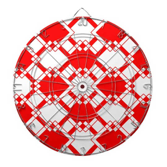 Abstract geometric pattern - red and white. dartboard