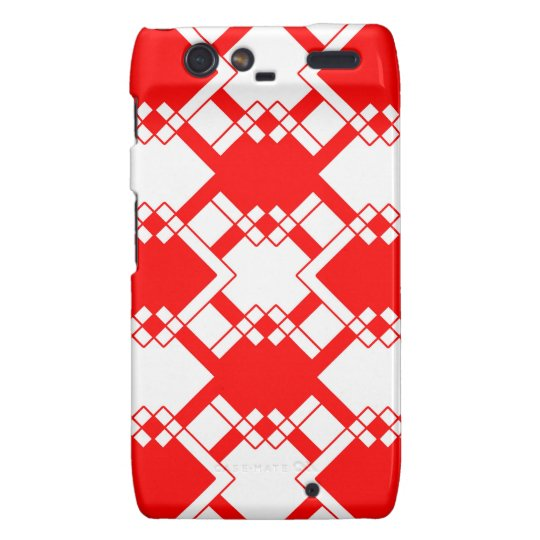 Abstract geometric pattern - red and white. droid RAZR case