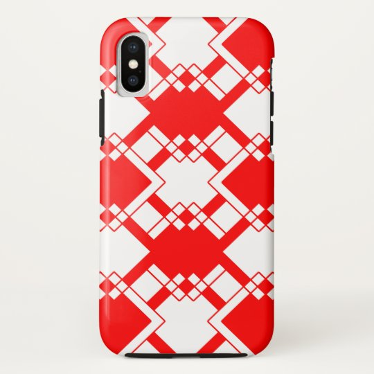 Abstract geometric pattern - red and white. HTC vivid cases