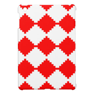 Abstract geometric pattern - red and white. iPad mini covers