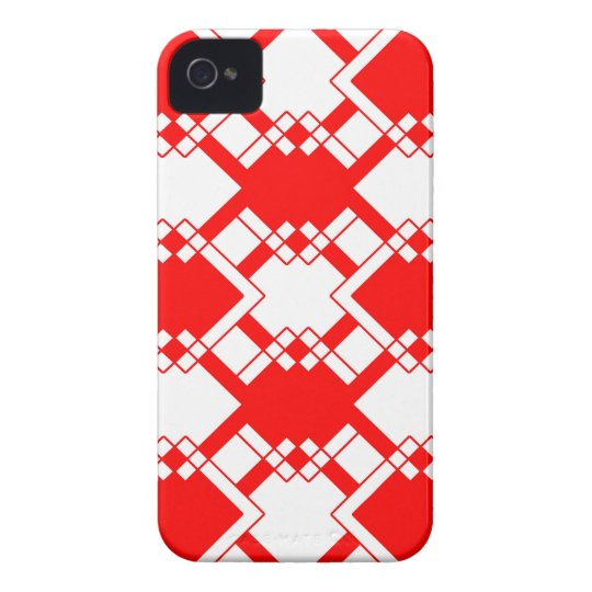 Abstract geometric pattern - red and white. iPhone 4 covers