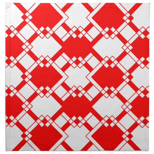 Abstract geometric pattern - red and white. napkin