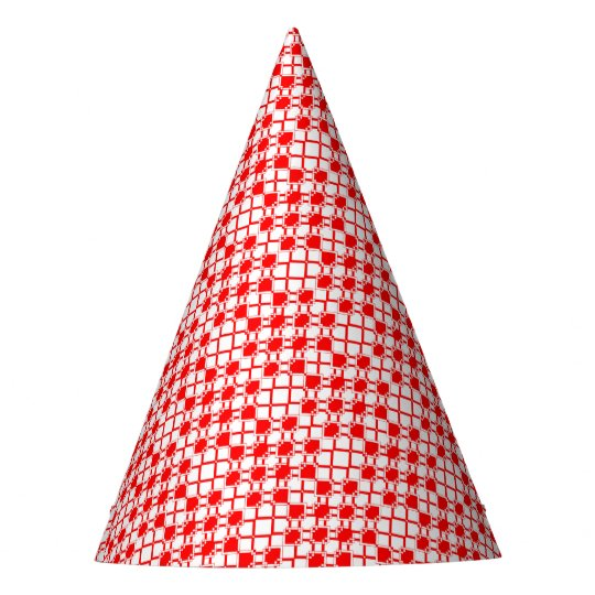 Abstract geometric pattern - red and white. party hat