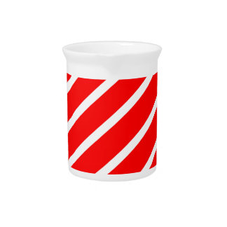 Abstract geometric pattern - red and white. pitcher