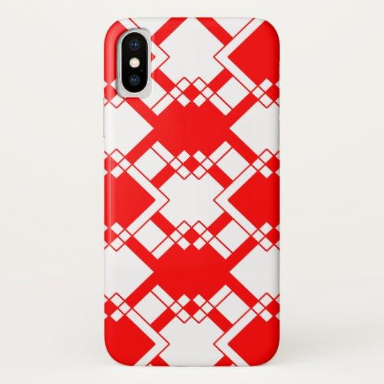 Abstract geometric pattern - red and white. samsung galaxy nexus case