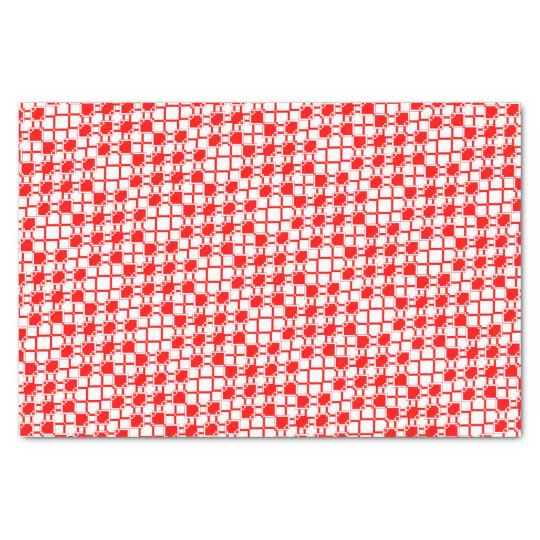 Abstract geometric pattern - red and white. tissue paper