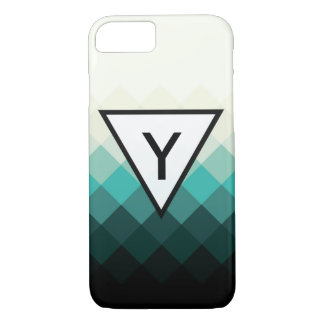 Abstract Geometric Pattern with Triangle Initial iPhone 7 Case