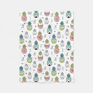Abstract Geometric Pineapple Seamless Pattern Fleece Blanket