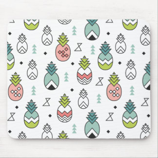Abstract Geometric Pineapple Seamless Pattern Mouse Pad