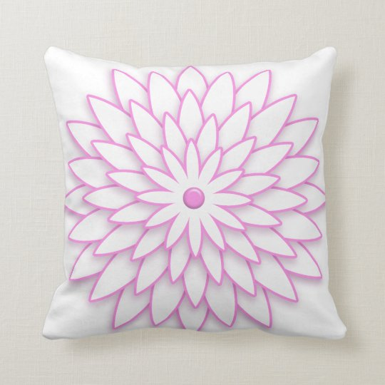 Abstract Geometric pink Flower. Cushion