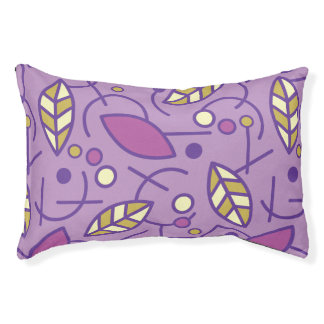 Abstract Geometric Purple Seamless Pattern Pet Bed