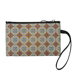 Abstract geometric retro seamless pattern coin purse