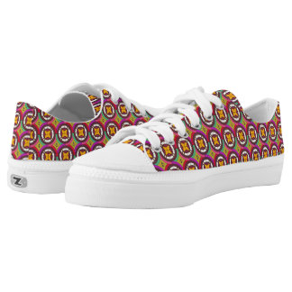 Abstract geometric retro seamless pattern low tops