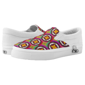 Abstract geometric retro seamless pattern Slip-On shoes